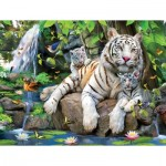 Puzzle  Sunsout-54944 Pièces XXL - White Tigers of Bengal