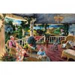 Puzzle  Sunsout-56018 Tom Antonishak - Afternoon with Grandma