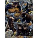 Puzzle  Sunsout-56452 Karen and Rebecca Latham - Bear Cubs