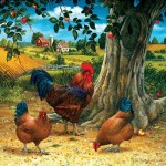 Puzzle  Sunsout-59724 Pièces XXL - Rooster and Hens