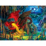 Puzzle  Sunsout-59775 Liz Goodrick Dillon - Fire Dragon of Emerald