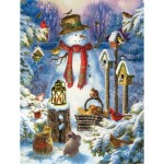 Puzzle  Sunsout-59780 Pièces XXL - Wilderness Snowman