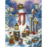 Puzzle  Sunsout-59794 Pièces XXL - Liz Goodrich Dillon - Snowman in the Wild