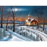 Puzzle  Sunsout-60328 Pièces XXL - Winter Evening Service