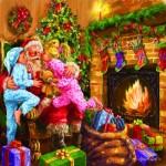Puzzle  Sunsout-60649 Marcello Corti - Everyone Loves Santa
