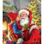 Puzzle  Sunsout-60662 Pièces XXL - Kissing Santa