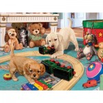 Puzzle  Sunsout-60905 Pièces XXL - Steve Read - Puppies Playtime