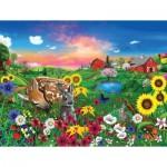 Puzzle  Sunsout-60940 Pièces XXL - Gerald Newton - Peaceful Pastures