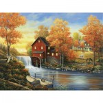 Puzzle  Sunsout-62118 Pièces XXL - John Zaccheo - Sunset at the Old Mill