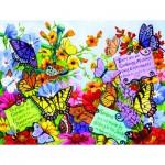 Puzzle  Sunsout-62908 Pièces XXL - Butterfly Oasis