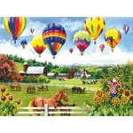 Puzzle  Sunsout-62967 Pièces XXL - Balloons over Fields