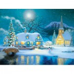 Puzzle  Sunsout-65289 Pièces XXL - Country Snowfall