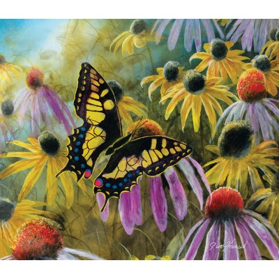 Puzzle Sunsout-67322 Jim Hansel - Swallowtail Vistor