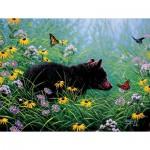 Puzzle  Sunsout-69601 Pièces XXL - Black Bear and Butterflies