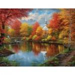 Puzzle  Sunsout-69606 Pièces XXL - Abraham Hunter - Autumn Tranquility
