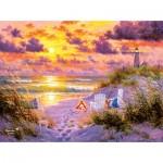 Puzzle  Sunsout-69681 Abraham Hunter - Golden Tide