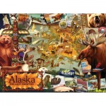 Puzzle  Sunsout-70016 Ward Thacker Studio - Alaska, The Final Frontier