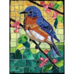 Puzzle  Sunsout-70716 Cynthie Fisher - Stained Glass Bluebird