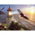 Puzzle  Sunsout-70881 Steve Sundram - Eagle Light