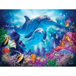 Puzzle  Sunsout-70926 Pièces XXL - Dolphin Guardian