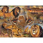 Puzzle  Sunsout-70934 Janet Stever - Big Cats of the Plains