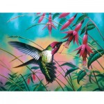 Puzzle  Sunsout-70941 Cynthie Fisher - Hummingbird Haven