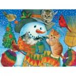 Puzzle  Sunsout-71984 Pièces XXL - Snowman Cuddles