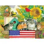 Puzzle  Sunsout-71988 Pièces XXL - Patriotic Kittens