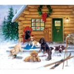 Puzzle  Sunsout-73410 Jim Killen - Christmas at the Cabin