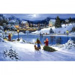 Puzzle  Sunsout-75172 George Kovach - Joyful Season