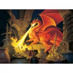 Puzzle  Sunsout-75570 The Hildebrandt Bros - Smaug Dragon
