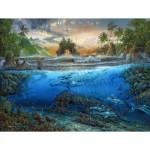 Puzzle  Sunsout-80168 Robert Lyn Nelson - Secret Cove