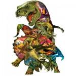 Puzzle  Sunsout-90426 Pièces XXL - Dennis Rogers - T Rex Attack
