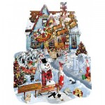 Puzzle  Sunsout-95539 Lori Schory - Christmas at our House