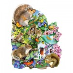 Puzzle  Sunsout-95999 Lori Schory - Something Squirrelly