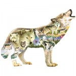 Puzzle  Sunsout-96038 PIèces XXL - Greg Giordano - Meadow Wolf
