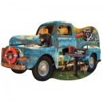 Puzzle  Sunsout-97032 Le Camion Bleu