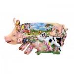 Puzzle  Sunsout-97077 Pièces XXL - Lori Schory - Pig Farm