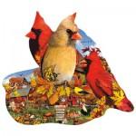 Puzzle  Sunsout-97204 Lori Schory - Fall Cardinals
