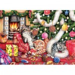 Puzzle   Debbie Cook - Cats and Baubles