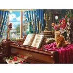 Puzzle   Grand Piano Cat