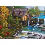 Puzzle   Mill by the Stream