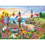 Puzzle   Nancy Wernersbach - Garden by the Sea