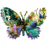 Puzzle   Pièces XXL - Alixandra Mullins - Forest Butterfly