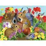Puzzle   Pièces XXL - Bunnies and Birdhouses