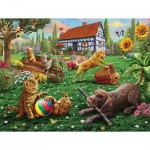Puzzle   Pièces XXL - Dogs and Cats at Play