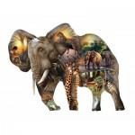 Puzzle   Pièces XXL - Elephant