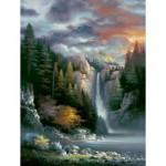Puzzle   Pièces XXL - James Lee - Misty Falls