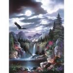 Puzzle   Pièces XXL - James Lee - Moonlit Eagle