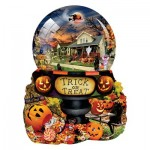 Puzzle   Pièces XXL - Lori Schory - Halloween Globe